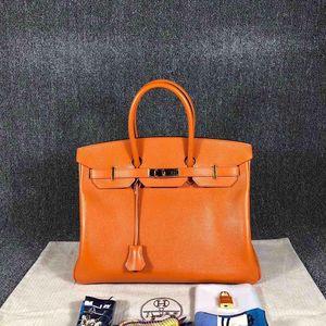 Hermès 爱马仕bk35橘色手提包