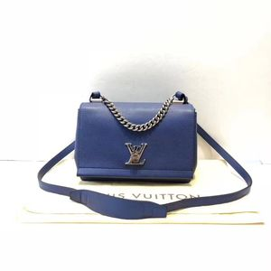 Louis Vuitton 路易·威登蓝色全皮单肩斜挎包
