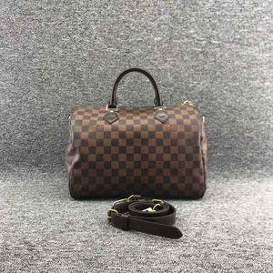Louis Vuitton 路易·威登sp30肩带款女士棋盘格枕头包手提包