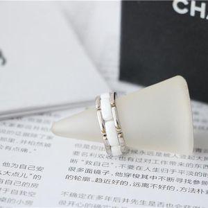 CHANEL 香奈儿18k白金白陶瓷戒指