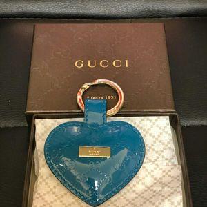 GUCCI 古驰蓝色爱心钥匙扣钥匙链挂件