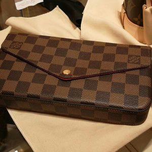 Louis Vuitton 路易·威登棕色棋盘格三合一链条包
