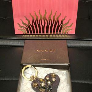 GUCCI 古驰爱心宝石款钥匙挂件