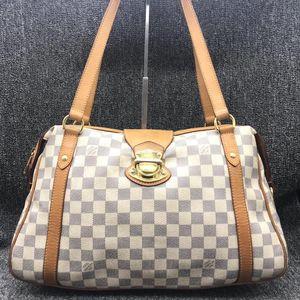 Louis Vuitton 路易·威登女士白色棋盘格单肩包