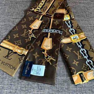Louis Vuitton 路易·威登老花配色twilly丝巾