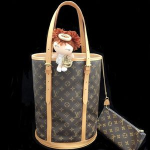 Louis Vuitton 路易·威登经典老花大号子母水桶单肩包