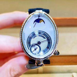 Breguet 宝玑那不勒斯皇后8908BB 18K白金镶钻机械手表