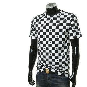 Alexander McQueen 亚历山大·麦菱格拼色男士燕子短袖T恤