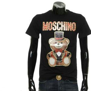Moschino 莫斯奇诺小熊修身男士短袖圆领T恤