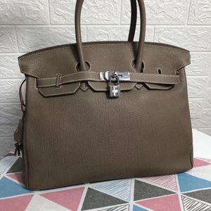 Hermès 爱马仕大象灰Birkin35手提包