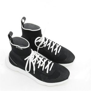 Dior 迪奥镂空系列弹力布中帮袜子休闲鞋