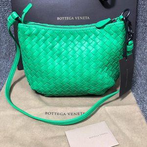 Bottega Veneta 葆蝶家绿色皮质编织单肩包