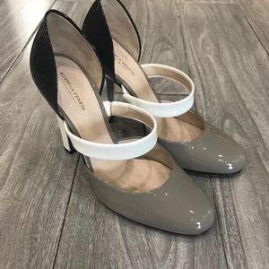 Bottega Veneta 葆蝶家三拼色高跟鞋