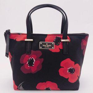 Kate Spade 凯特·丝蓓限量花朵涂鸦mini托特手提包