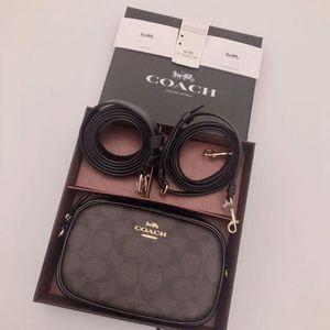 COACH 蔻驰经典老花logo双肩带三用礼盒相机包