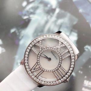 Tiffany & Co. 蒂芙尼18k白金钻石款女士腕表