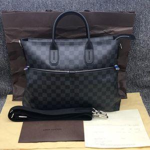 Louis Vuitton 路易·威登黑色棋盘格手提公文包