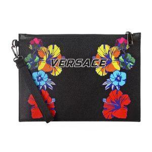 Versace 范思哲男士印花皮革手拿包