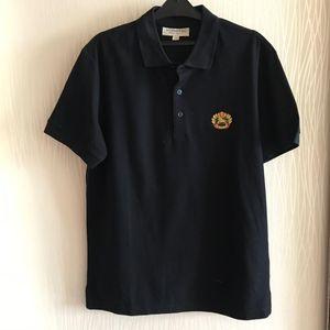 Burberry 博柏利战马黑色短袖Polo衫
