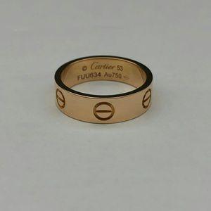 Cartier 卡地亚H1941495玫瑰金宽版Love戒指