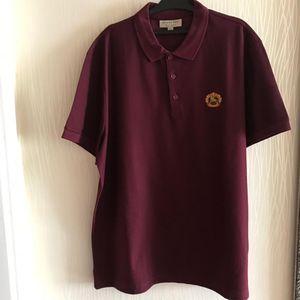 Burberry 博柏利战马酒红色短袖Polo衫
