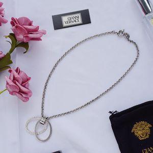 Versace 范思哲美杜莎圈圈银色项链