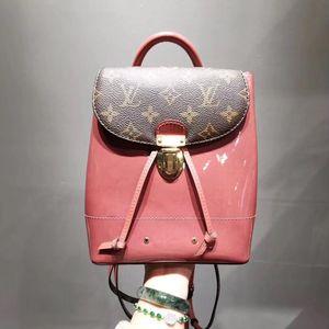 Louis Vuitton 路易·威登老花拼漆皮双肩包