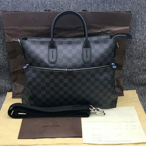 Louis Vuitton 路易·威登黑色棋盘格男士公文包