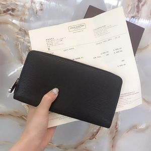 Louis Vuitton 路易·威登黑色水波纹拉链钱包