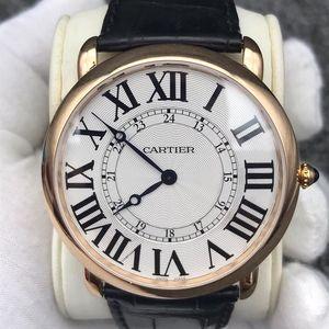 Cartier卡地亚手动机械男士腕表