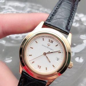 Girard-Perregaux 芝柏18k纯金男款腕表
