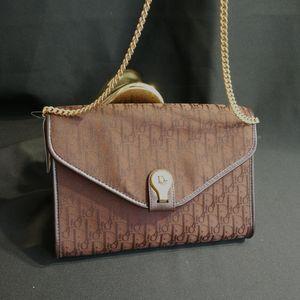 Dior 迪奥DJ12581绣花帆布链条包信封包单肩包斜跨包
