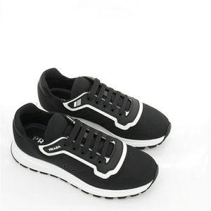 PRADA 普拉达夏季男士织物休闲低帮运动鞋