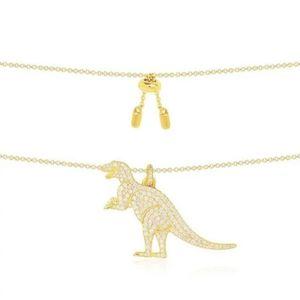 APM MONACO 摩纳哥镶晶钻恐龙项链