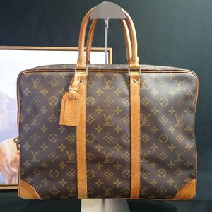 Louis Vuitton路易.威登老花配皮公文包
