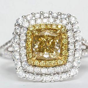 钻石  黄钻戒指