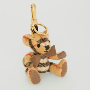Burberry 博柏利格纹蝴蝶结领结造型泰迪熊挂件