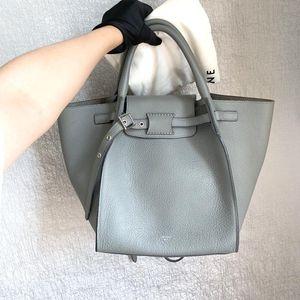 Celine 赛琳bigbag系列灰色全皮手提包