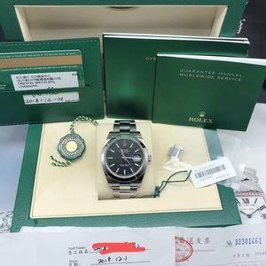 Rolex 劳力士126300黑面条刻机械腕表
