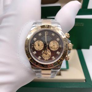 Rolex 劳力士116503间金迪通拿自由彩贝母面刻度钻机械腕表
