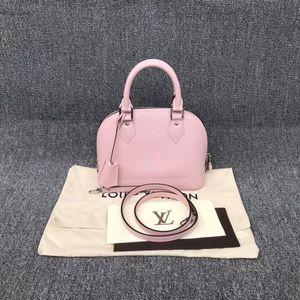 Louis Vuitton 路易·威登樱花粉色alma bb贝壳手提斜挎包