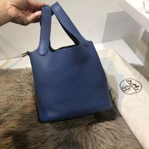 Hermès 爱马仕蓝色手提包