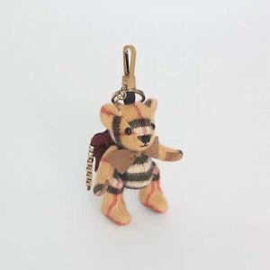 Burberry 博柏利酒红色书包造型泰迪熊挂件钥匙扣