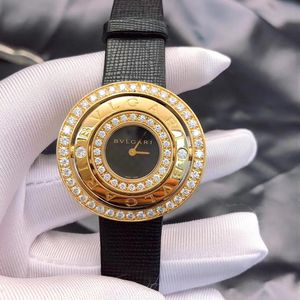 BVLGARI 宝格丽ASTRALE系列AE36D1BL黄金镶钻腕表