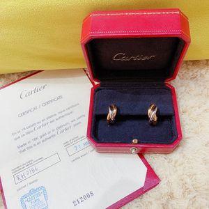 Cartier 卡地亚经典款三色金耳钉