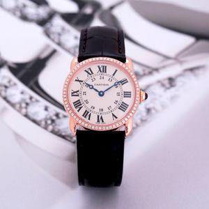 Cartier 卡地亚伦敦系列18k玫瑰金石英机芯女士手表