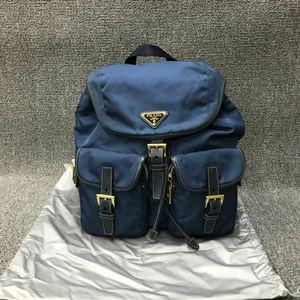 PRADA 普拉达蓝色降落伞布双肩背包