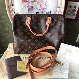 Louis Vuitton 路易·威登speedy 30老花肩带款手提包