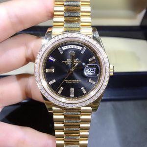 Rolex 劳力士星期日历型228398金劳机械男表