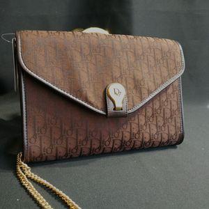 Dior 迪奥DJ12581绣花帆布链条包信封包单肩包